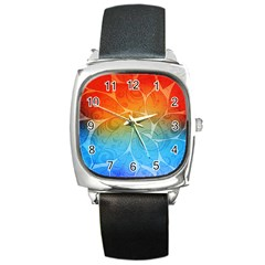 Leaf Color Sam Rainbow Square Metal Watch
