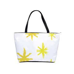 Line Painting Yellow Star Shoulder Handbags