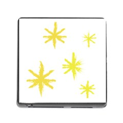 Line Painting Yellow Star Memory Card Reader (Square)