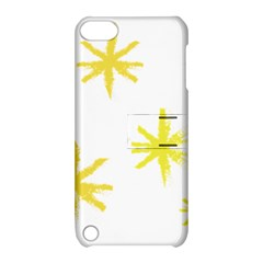 Line Painting Yellow Star Apple Ipod Touch 5 Hardshell Case With Stand