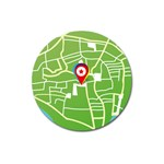 Map Street Star Location Magnet 3  (Round) Front