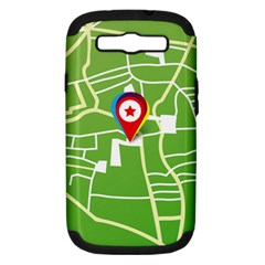 Map Street Star Location Samsung Galaxy S Iii Hardshell Case (pc+silicone)