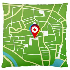 Map Street Star Location Standard Flano Cushion Case (Two Sides)