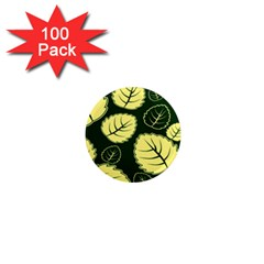 Leaf Green Yellow 1  Mini Magnets (100 pack)