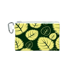 Leaf Green Yellow Canvas Cosmetic Bag (S)