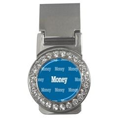 Money White Blue Color Money Clips (CZ)