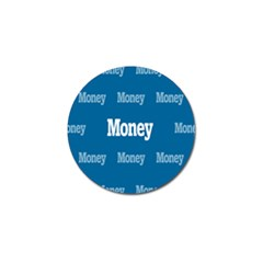 Money White Blue Color Golf Ball Marker