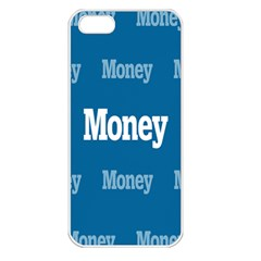Money White Blue Color Apple iPhone 5 Seamless Case (White)