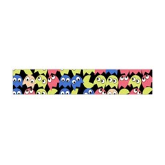Pacman Seamless Generated Monster Eat Hungry Eye Mask Face Color Rainbow Flano Scarf (Mini)