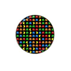 Pacman Seamless Generated Monster Eat Hungry Eye Mask Face Rainbow Color Hat Clip Ball Marker (10 pack)