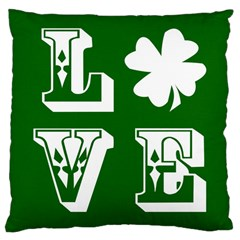Parks And Tally Love Printable Green Large Cushion Case (One Side)