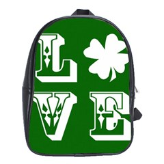 Parks And Tally Love Printable Green School Bags (XL)