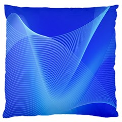 Line Net Light Blue White Chevron Wave Waves Standard Flano Cushion Case (Two Sides)