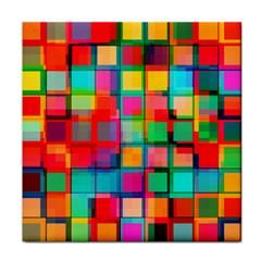 Plaid Line Color Rainbow Red Orange Blue Chevron Face Towel