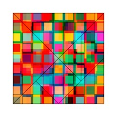 Plaid Line Color Rainbow Red Orange Blue Chevron Acrylic Tangram Puzzle (6  x 6 )