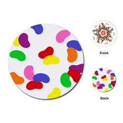 Seed Beans Color Rainbow Playing Cards (Round)
