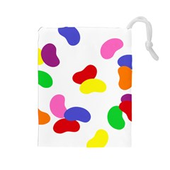 Seed Beans Color Rainbow Drawstring Pouches (Large)