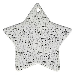 Musical Notes Song Ornament (Star)
