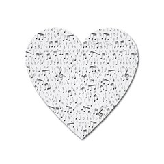Musical Notes Song Heart Magnet