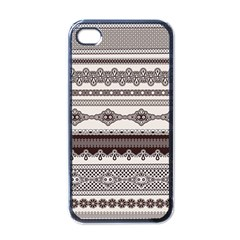 Plaid Circle Polka Dot Star Flower Floral Wave Chevron Triangle Apple Iphone 4 Case (black)