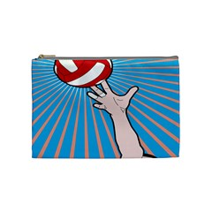 Volly Ball Sport Game Player Cosmetic Bag (Medium)