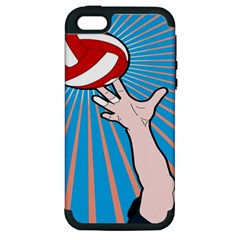 Volly Ball Sport Game Player Apple Iphone 5 Hardshell Case (pc+silicone)