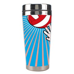Volly Ball Sport Game Player Stainless Steel Travel Tumblers