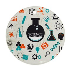 Science Chemistry Physics Ornament (Round)