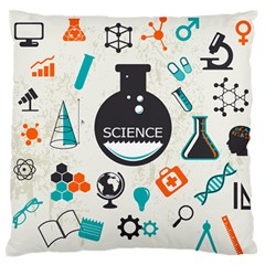 Science Chemistry Physics Large Flano Cushion Case (Two Sides)