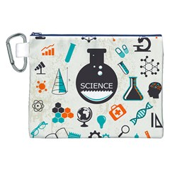 Science Chemistry Physics Canvas Cosmetic Bag (XXL)