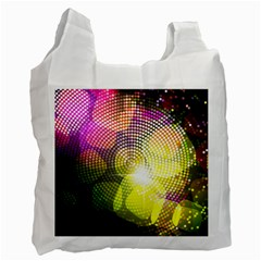 Plaid Star Light Color Rainbow Yellow Purple Pink Gold Blue Recycle Bag (one Side)