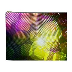 Plaid Star Light Color Rainbow Yellow Purple Pink Gold Blue Cosmetic Bag (xl)