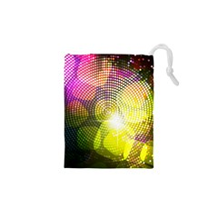 Plaid Star Light Color Rainbow Yellow Purple Pink Gold Blue Drawstring Pouches (XS)