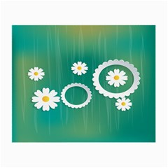 Sunflower Sakura Flower Floral Circle Green Small Glasses Cloth (2 Side)