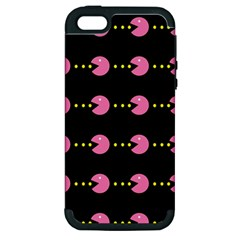 Wallpaper Pacman Texture Bright Surface Apple Iphone 5 Hardshell Case (pc+silicone)