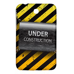 Under Construction Sign Iron Line Black Yellow Cross Samsung Galaxy Tab 3 (7 ) P3200 Hardshell Case