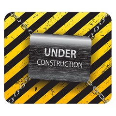 Under Construction Sign Iron Line Black Yellow Cross Double Sided Flano Blanket (Small)
