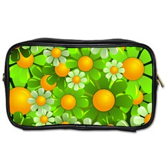 Sunflower Flower Floral Green Yellow Toiletries Bags 2-Side