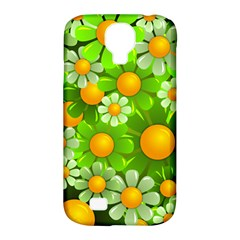 Sunflower Flower Floral Green Yellow Samsung Galaxy S4 Classic Hardshell Case (PC+Silicone)