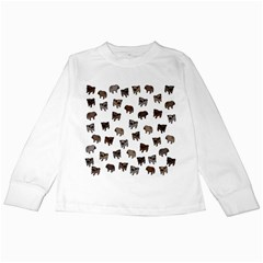 Pug dog pattern Kids Long Sleeve T-Shirts