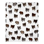 Pug dog pattern Shower Curtain 60  x 72  (Medium)  54.25 x65.71 Curtain