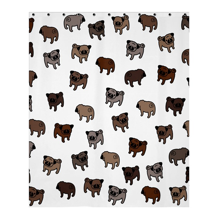 Pug dog pattern Shower Curtain 60  x 72  (Medium)