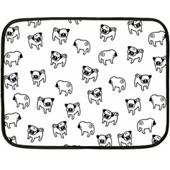 Pug dog pattern Double Sided Fleece Blanket (Mini)