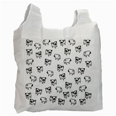 Pug dog pattern Recycle Bag (One Side)