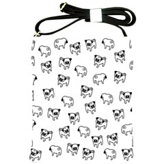Pug dog pattern Shoulder Sling Bags