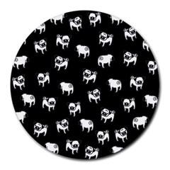 Pug dog pattern Round Mousepads