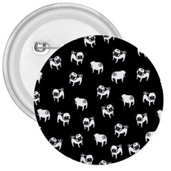 Pug dog pattern 3  Buttons