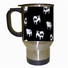 Pug dog pattern Travel Mugs (White)