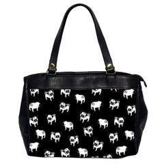 Pug dog pattern Office Handbags (2 Sides)