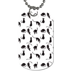 Black cats pattern Dog Tag (One Side)